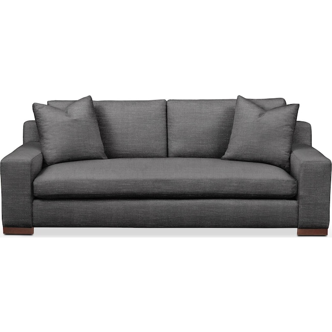 Living Room Furniture - Ethan Sofa- Comfort in Curious Charcoal