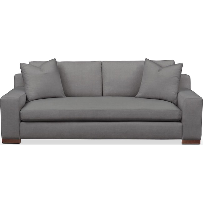 Living Room Furniture - Ethan Sofa- Comfort in Hugo Graphite