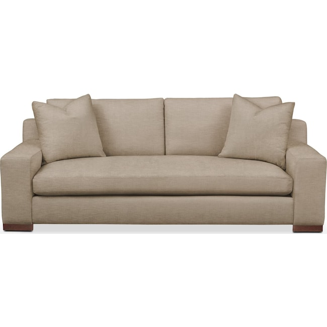 Living Room Furniture - Ethan Sofa- Comfort in Dudley Burlap