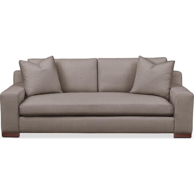 Living Room Furniture - Ethan Sofa- Cumulus in Oakley III Granite