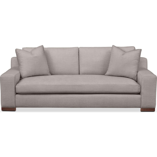 Living Room Furniture - Ethan Sofa- Cumulus in Curious Silver Rine