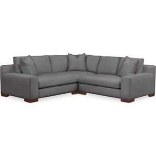 Ethan Comfort 2-Piece Small Sectional with Right-Facing Loveseat - Hugo Graphite