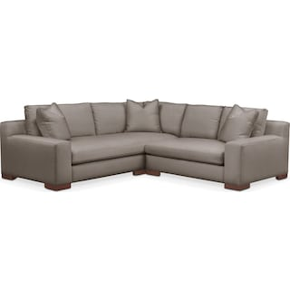 Ethan Cumulus 2-Piece Small Sectional with Right-Facing Loveseat - Oakley III Granite