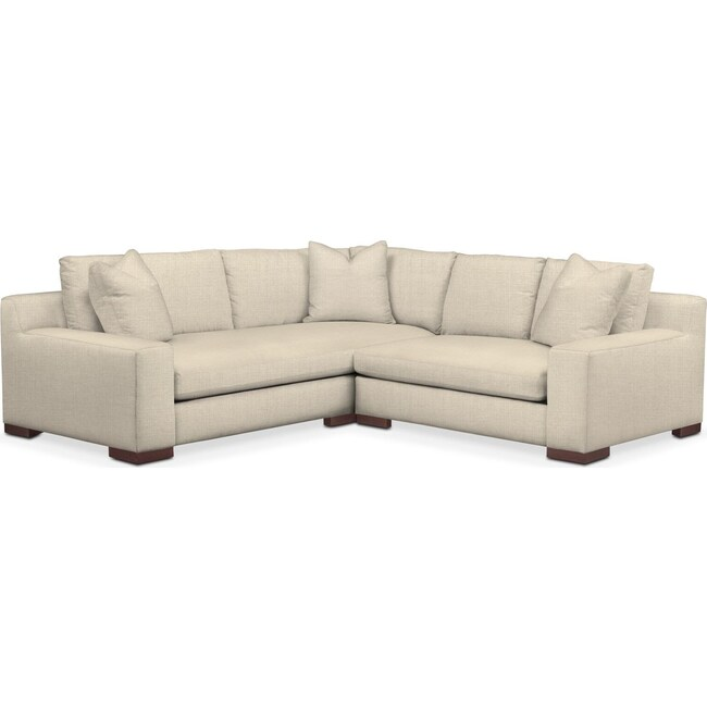 Living Room Furniture - Ethan 2-Piece Sectional with Right-Facing Loveseat - Cumulus in Anders Cloud