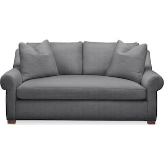 Asher Apartment Sofa- Comfort in Depalma Charcoal
