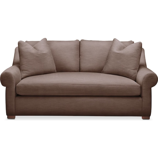 Living Room Furniture - Asher Apartment Sofa- Comfort in Oakley III Java