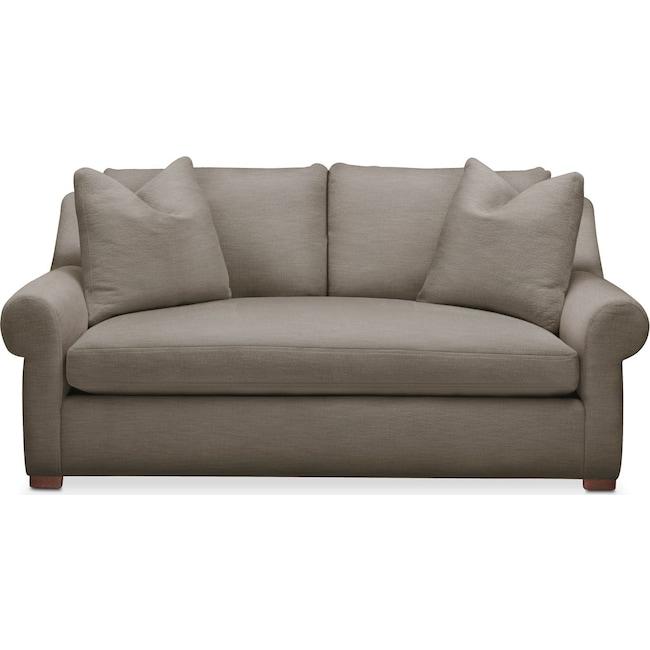 Living Room Furniture - Asher Apartment Sofa- Comfort in Oakley III Granite