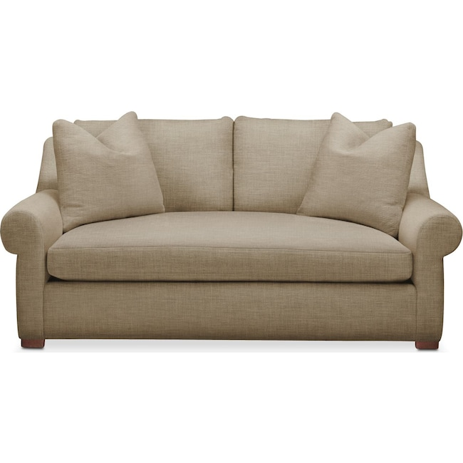 Living Room Furniture - Asher Apartment Sofa- Comfort in Milford II Toast