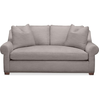 Asher Apartment Sofa- Comfort in Curious Silver Rine