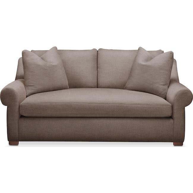 Living Room Furniture - Asher Apartment Sofa- Comfort in Hugo Mocha