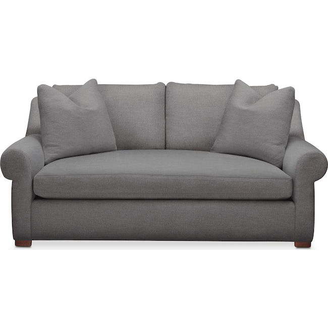 Living Room Furniture - Asher Apartment Sofa- Comfort in Hugo Graphite