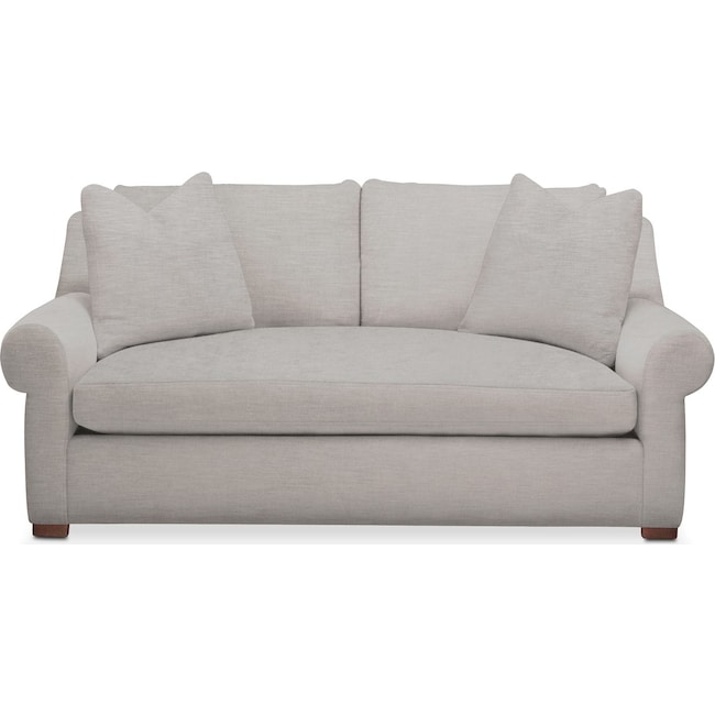 Living Room Furniture - Asher Apartment Sofa- Comfort in Dudley Gray