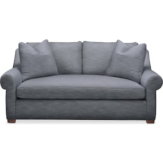 Asher Apartment Sofa- Comfort in Dudley Indigo