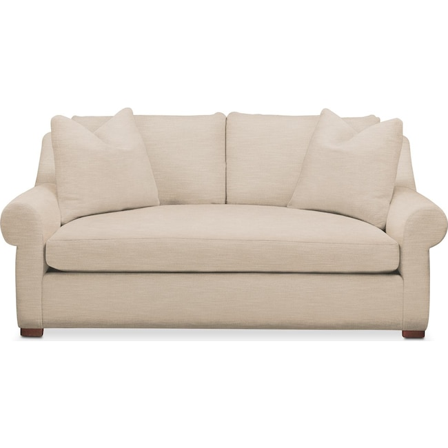 Living Room Furniture - Asher Apartment Sofa- Comfort in Dudley Buff