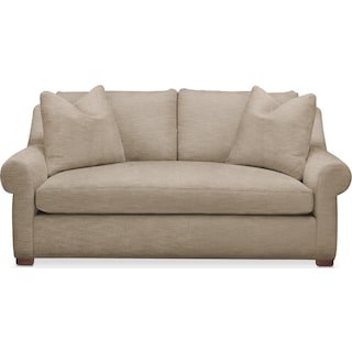 Asher Apartment Sofa- Comfort in Dudley Burlap