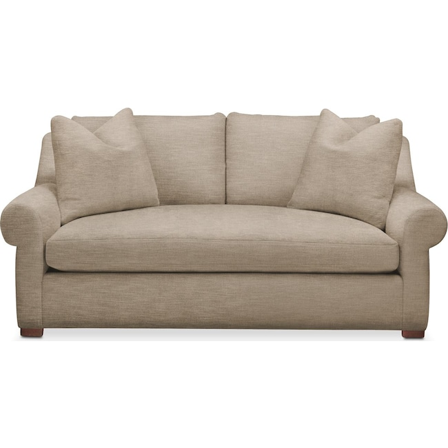 Living Room Furniture - Asher Apartment Sofa- Comfort in Dudley Burlap