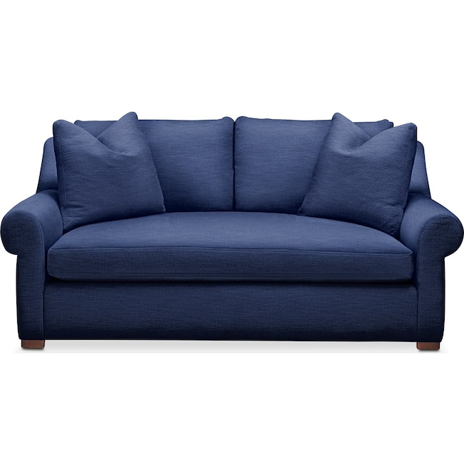 Living Room Furniture - Asher Apartment Sofa- Comfort in Abington TW Indigo