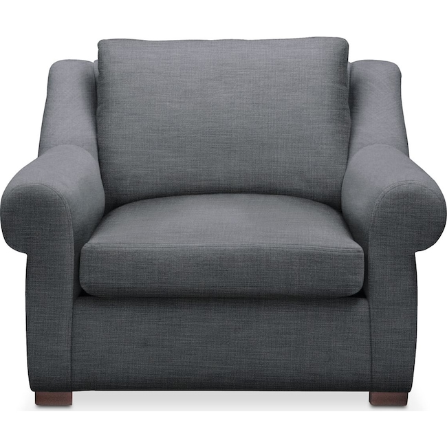 Living Room Furniture - Asher Chair- Comfort in Milford II Charcoal