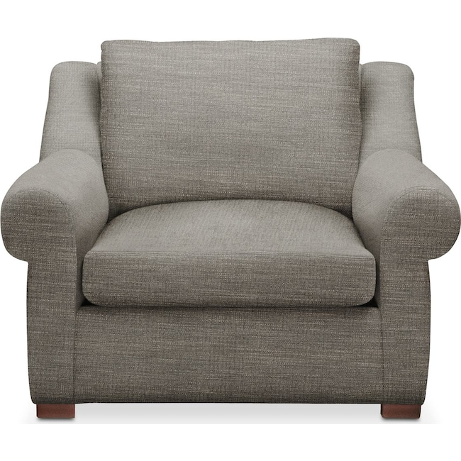Living Room Furniture - Asher Chair- Comfort in Victory Smoke