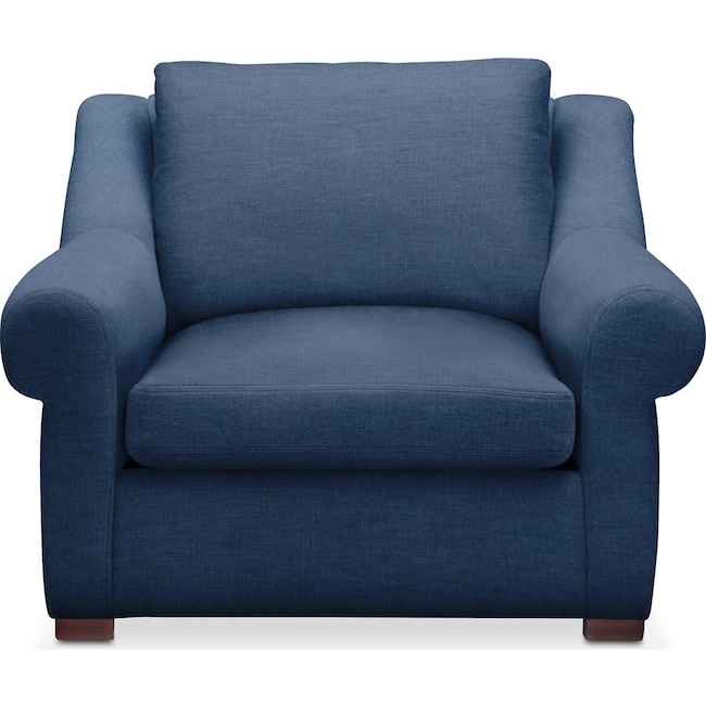 Living Room Furniture - Asher Chair- Comfort in Hugo Indigo