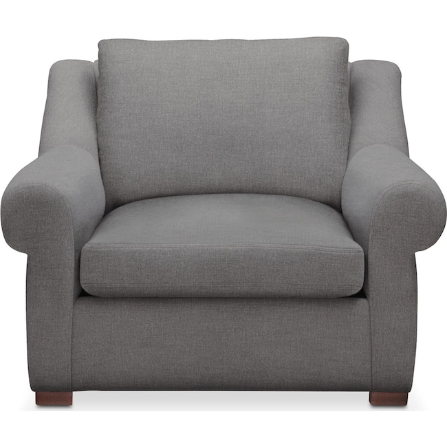 Living Room Furniture - Asher Chair- Comfort in Hugo Graphite