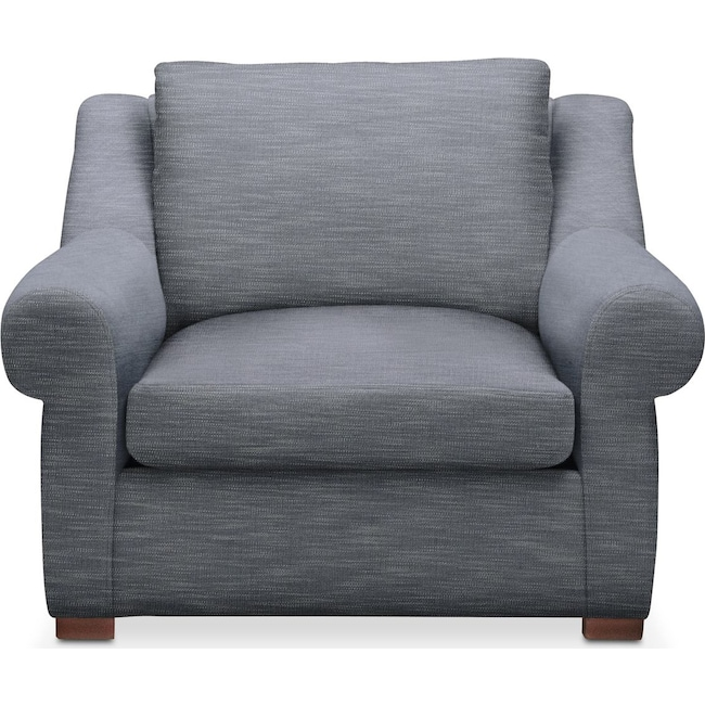 Living Room Furniture - Asher Chair- Comfort in Dudley Indigo