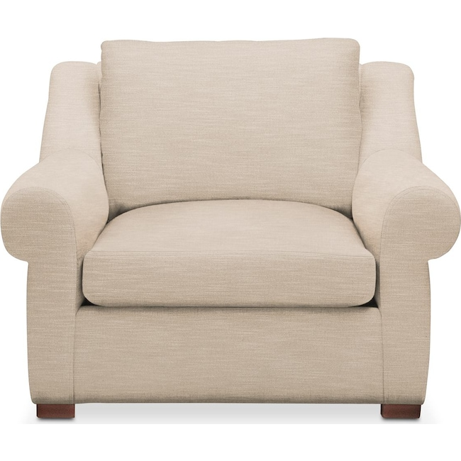 Living Room Furniture - Asher Chair- Comfort in Dudley Buff