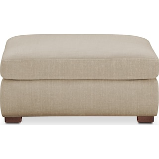 Asher Ottoman- Comfort in Depalma Taupe