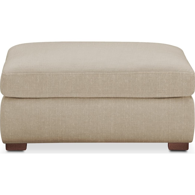 Living Room Furniture - Asher Ottoman- Comfort in Depalma Taupe