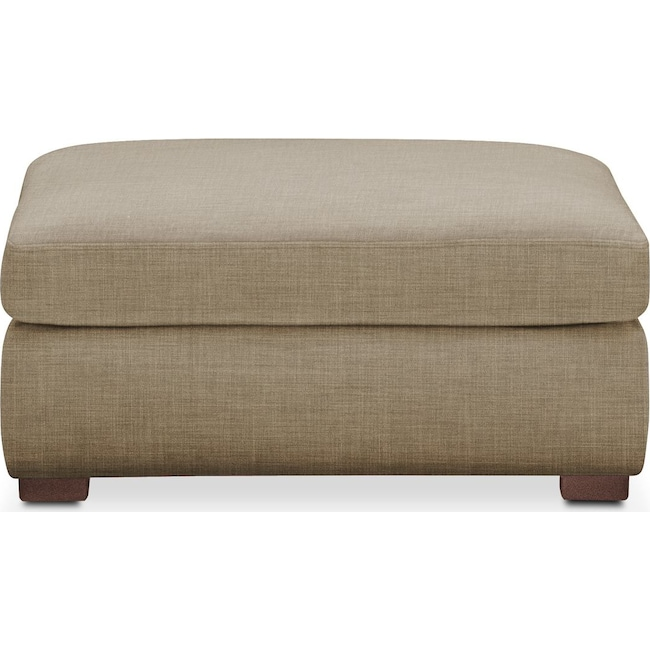 Living Room Furniture - Asher Ottoman- Comfort in Milford II Toast