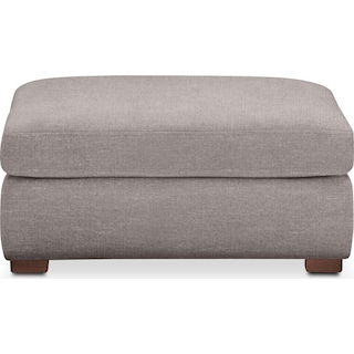 Asher Ottoman- Comfort in Curious Silver Rine