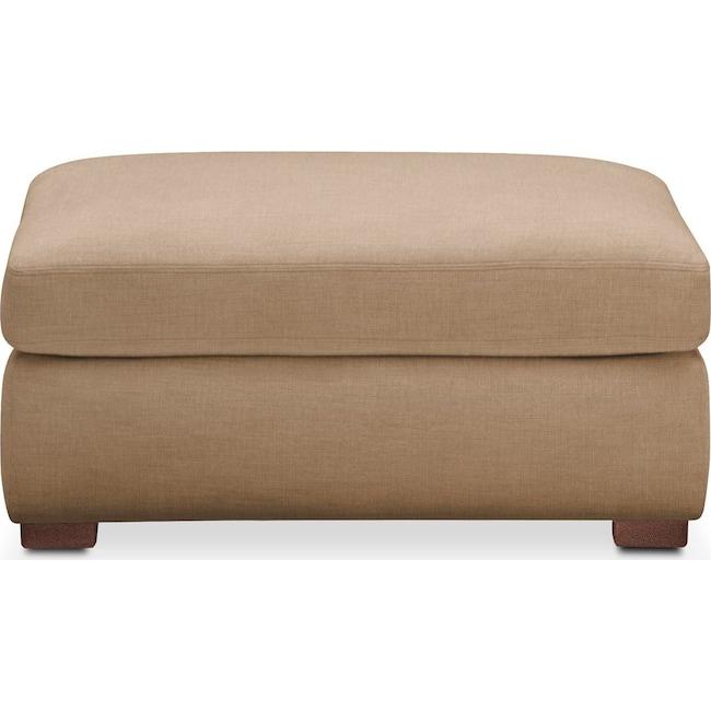 Living Room Furniture - Asher Ottoman- Comfort in Hugo Camel