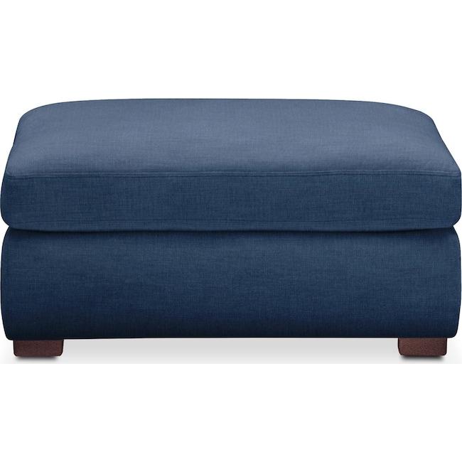 Living Room Furniture - Asher Ottoman- Comfort in Hugo Indigo