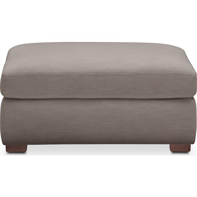 Living Room Furniture - Asher Ottoman- Cumulus in Oakley III Granite