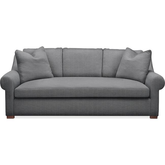Living Room Furniture - Asher Sofa- Comfort in Depalma Charcoal