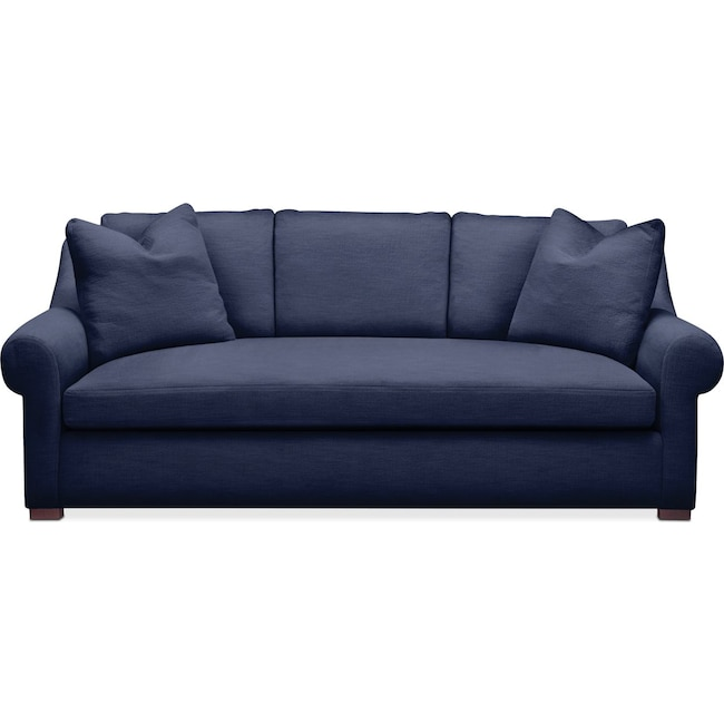 Living Room Furniture - Asher Sofa- Comfort in Oakley III Ink