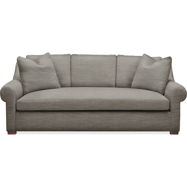 Living Room Furniture - Asher Sofa- Comfort in Victory Smoke