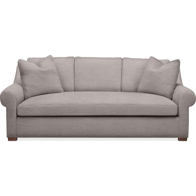 Living Room Furniture - Asher Sofa- Comfort in Curious Silver Rine