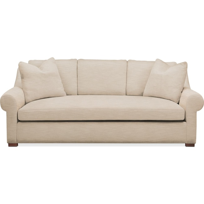 Living Room Furniture - Asher Sofa- Comfort in Dudley Buff