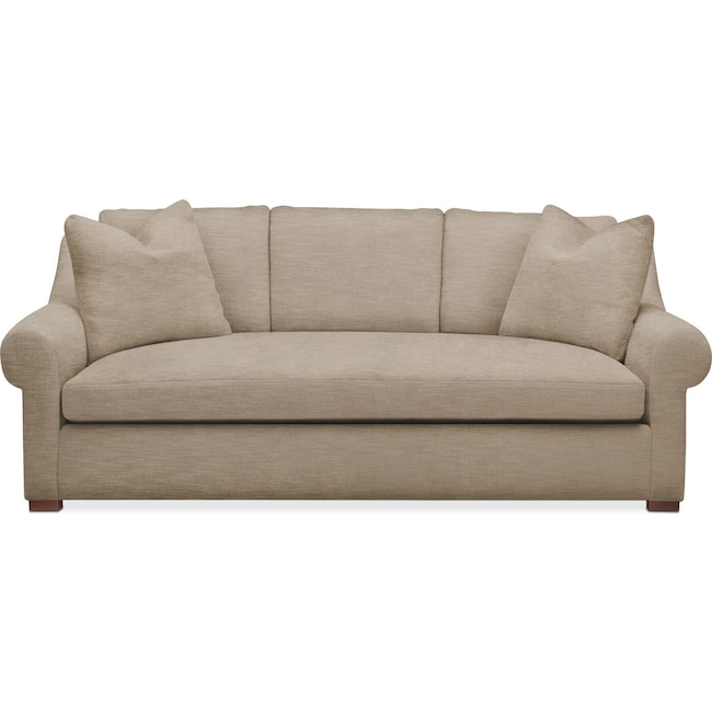 Living Room Furniture - Asher Sofa- Comfort in Dudley Burlap