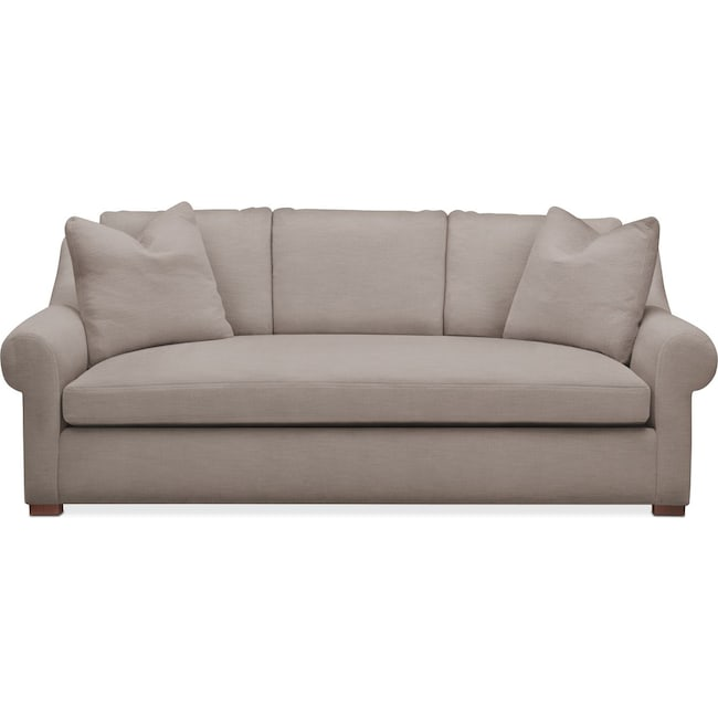 Living Room Furniture - Asher Sofa- Comfort in Abington TW Fog
