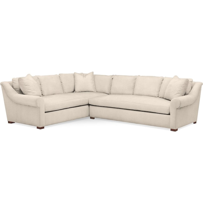 Living Room Furniture - Asher 2 Pc. Sectional with Right Arm Facing Sofa- Comfort in Curious Pearl