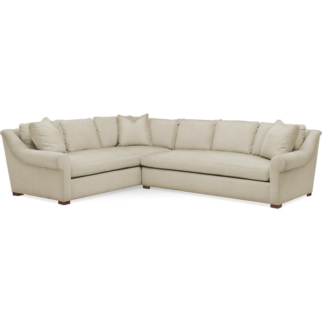 Living Room Furniture - Asher 2 Pc. Sectional with Right Arm Facing Sofa- Comfort in Abington TW Barley