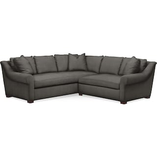 Asher 2 Pc. Sectional with Right Arm Facing Loveseat- Cumulus in Statley L Sterling