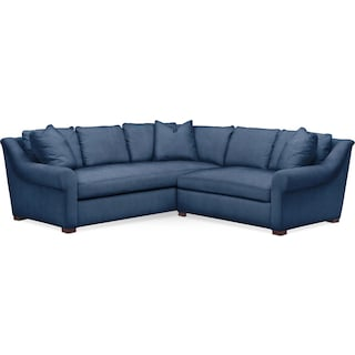 Asher 2 Pc. Sectional with Right Arm Facing Loveseat- Cumulus in Hugo Indigo
