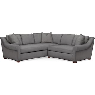 Asher 2 Pc. Sectional with Right Arm Facing Loveseat- Cumulus in Hugo Graphite