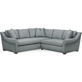 Asher 2 Pc. Sectional with Right Arm Facing Loveseat- Cumulus in Abington TW Seven Seas