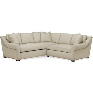 Asher 2 Pc. Sectional with Right Arm Facing Loveseat- Cumulus in Abington TW Barley