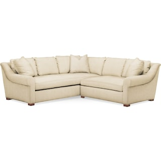 Asher 2 Pc. Sectional with Right Arm Facing Loveseat- Cumulus in Anders Cloud
