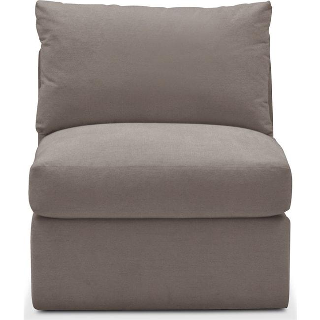 Living Room Furniture - Collin Armless Chair- Comfort in Oakley III Granite